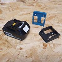 StealthMounts 6 Pack Battery Holders for Makita 18V LXT Batteries - Blue