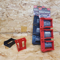 StealthMounts 6 Pack Battery Holders for Milwaukee M18 Batteries - Red