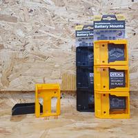 StealthMounts 6 Pack Battery Holders for DeWalt 18V Batteries - Black