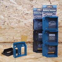 StealthMounts 6 Pack Battery Holders for Makita 18V LXT Batteries - Black