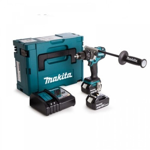 Makita DHP481RTJ 18V LXT Brushless Combi Drill (2 x 5.0Ah Li-Ion Batteries)