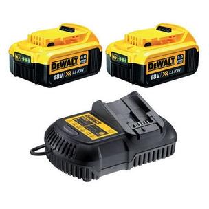 DeWalt DCB182 18V XR 4.0Ah Battery Twin Pack and DCB115 12-18V Multi-Voltage Charger