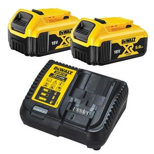 Dewalt DCB184 18V XR 5.0Ah Li-Ion Batteries (Twin Pack) + DCB115 Charger