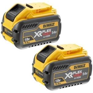 DeWalt DCB547 18V/54V XR Flexvolt 9.0Ah Li-Ion Batteries (Twin Pack)