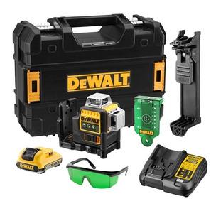 DeWalt DCE089D1G 12V Self-Levelling 360° Cross Line Laser Kit (1 x 2.0Ah Battery, Charger & Case)