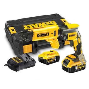 DeWalt DCF620P2 18V XR Brushless Drywall Screwdriver Kit (2 x 5.0Ah Li-Ion Batteries, Charger & Case)