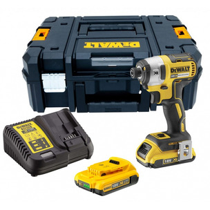 Dewalt DCF887D2 18V XR G2 Brushless 3 Speed Impact Driver (2 x 2.0Ah Li-Ion Batteries, Charger and T-STAK)