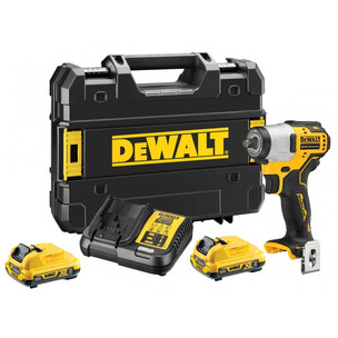 DeWalt DCF902D2-GB 12V 2 x 2Ah XR Brushless Sub Compact 3/8in Impact Wrench Kit