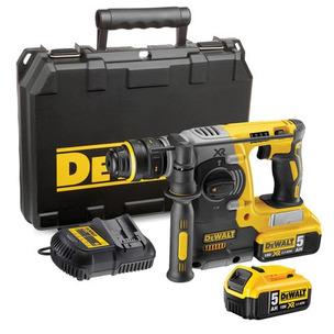 DeWalt DCH273P2 18V XR SDS+ Hammer Drill Kit (2 x 5.0Ah Li-Ion Batteries, Charger & Case)