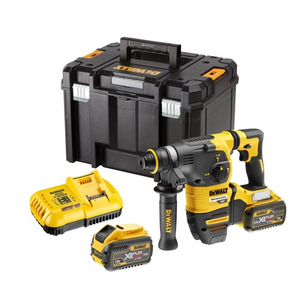 DeWalt DCH333X2 54V XR Flexvolt Brushless 3-Mode Hammer Drill Kit (2 x 9.0Ah Batteries, Charger & Case)