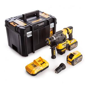 DeWalt DCH334X2 54V Flexvolt SDS+ Hammer Drill Kit (2 x 9.0Ah Batteries, Charger & Case)
