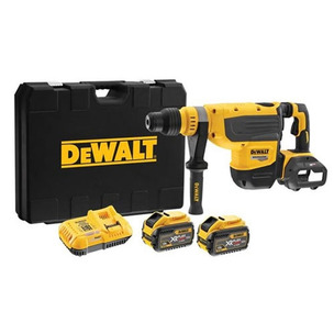 DeWalt DCH733X2 54V Flexvolt 48mm SDS MAX Hammer Drill Kit (2 x 9.0Ah Batteries, Charger & Case)