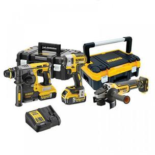 DeWalt DCK305P2T 18V 3 Piece SDS Plus Drill/Driver/Grinder TSTAK Kit (2 x 5.0Ah Li-ion batts)