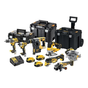 Dewalt DCK755P3T 18V Brushless 7 Piece Tool Kit With 3 x 5.0Ah Batteries, Charger & Tool Boxes