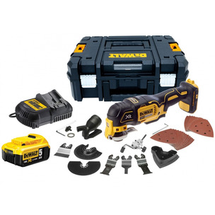 DeWalt DCS355P1 18V XR Brushless Multi-Tool with 35pc Accessory Kit (1 x 5.0Ah Battery and Case)
