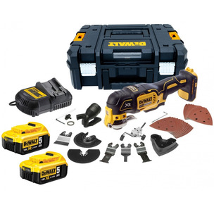 DeWalt DCS355P2 18V XR Brushless Multi-Tool with 35pc Accessory Kit (2 x 5.0Ah Battery and Case)