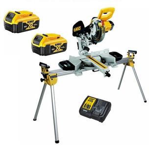 Dewalt DCS365M2 18V XR Cordless XPS 184mm Mitre Saw Kit with DE7023 Leg Stand (2 x 4.0Ah Batteries & Charger)