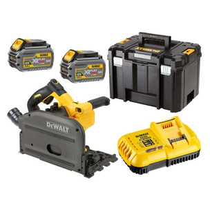 Dewalt DCS520T2 54V XR Flexvolt Plunge Saw (2 x 6.0Ah Li-Ion Batteries & T-STAK Case)