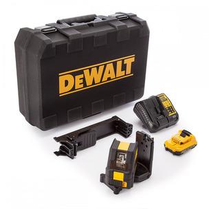 DeWalt DCE088D1G 10.8V Self Levelling Cross Line Laser Kit (Green Beam & 1 x 2.0Ah Battery, Charger & Case)