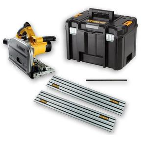 DeWalt DWS520KT  Heavy Duty Plunge Saw - 110V (with Case, Joining Bar and 2 x 1.5 Rails)