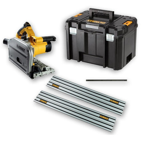 DeWalt DWS520KT  Heavy Duty Plunge Saw - 240V (with Case, Joining Bar and 2 x 1.5 Rails)