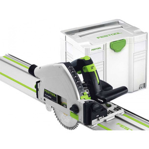 Festool 561584 TS55 REQ-PLUS Plunge Saw - 110V (with 1.4m Guide Rail and Systainer Case)
