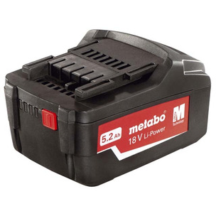Metabo 625592000 18V LiHD 5.2Ah Battery