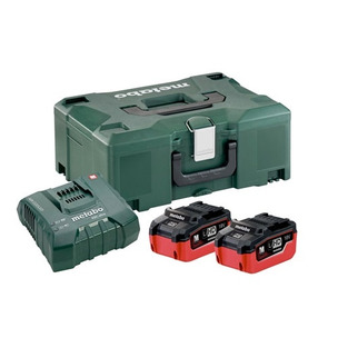 Metabo 685105000 18V Basic Set with 2 x 6.2Ah Batteries, Charger and Case