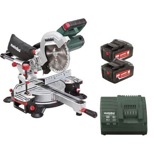 Metabo KGS18LTX216 18V 216mm Cordless Mitre Saw with 2 x 6.2Ah Batteries