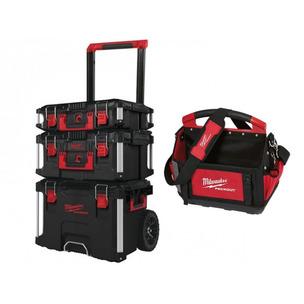 Milwaukee 4932464244 3 Piece PACKOUT Storage System Set & 40CM Tote Bag (4932464085)