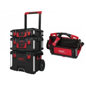 Milwaukee 4932464244 3 Piece PACKOUT Storage System Set & 50CM Tote Bag (4932464086)