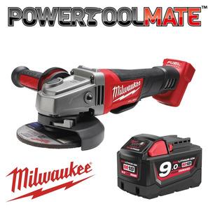 MILWAUKEE Fuel Grinder Bundle! M18CAG115XPDB-0 18V Fuel 115mm Brushless Angle Grinder & M18B9 Batt