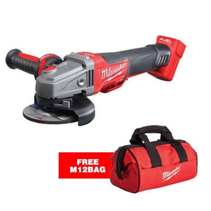 Milwaukee M18CAG115XPDB-0 18V Fuel 115mm Angle Grinder + FREE M12 Bag (Body Only)