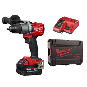 Milwaukee M18FPD2-501X Combi Drill Kit (1 x 5.0Ah RedLithium-Ion Battery, Charger & Case)