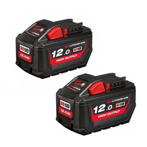 Milwaukee M18HB12 18V 12.0Ah RedLithium-Ion High Output Batteries (Twin Pack)