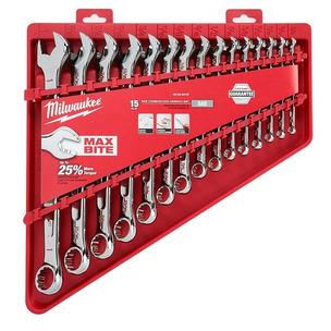 Milwaukee 48229415 15 Piece Combination Spanner Set