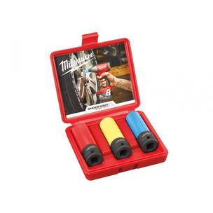 Milwaukee 2451568 3 Piece Shockwave Automotive Impact Socket Set