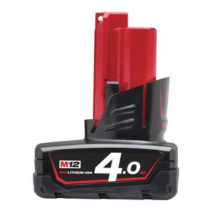 Milwaukee M12B4 12V 4.0Ah RedLithium-Ion Battery