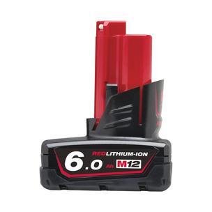 Milwaukee M12B6 12V 6.0Ah RedLithium-Ion Battery
