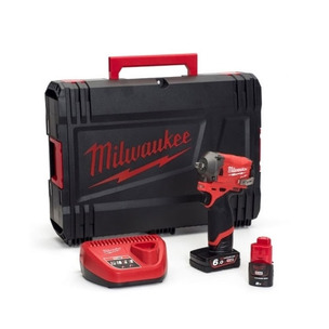 """Milwaukee M12FIWF38-622X 12V Fuel 3/8"""" Impact Wrench Kit (1 x 6.0Ah /1 x 2.0Ah RedLithium-Ion Batteries, Charger & Case)"""