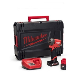 """Milwaukee M12FIWF12-622X 12V Fuel 1/2"""" Impact Wrench Kit (1 x 6.0Ah / 1 x 2.0Ah RedLithium-Ion Batteries, Charger & Case)"""