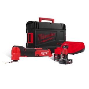 Milwaukee M12FMT-422X 12V Fuel Multi-Tool Kit (1 x 2Ah & 1 x 4Ah RedLithium-Ion Batteries)