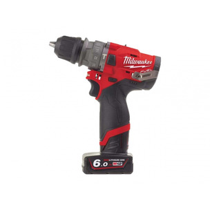 Milwaukee M12FPDXKIT-602X M12 12V Compact Percussion Drill (Removable Chuck & 2 x 6.0Ah RedLithium-Ion Batteries)