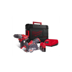 Milwaukee M12FPP2G-202X 12V Powerpack M12FPDX (3 chucks)/M12FCOT with 2 x 2AH Batteries