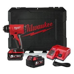 Milwaukee M18BHG-502C 18V Compact Heat Gun Kit (2 x 5.0Ah RedLithium-Ion Batteries, Charger & Case)