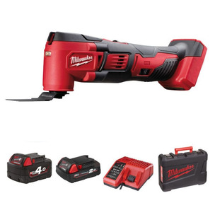Milwaukee M18BMT-421C 18V Multi-Tool Kit (1 x 4.0Ah / 1 x 2.0Ah RedLithium-Ion batterires, Charger & Case)