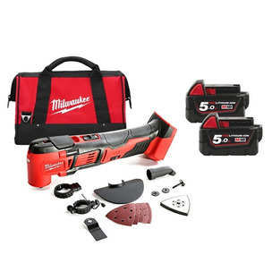 Milwaukee M18BMT-502B 18V Compact Multi-Tool (2 x 5.0Ah RedLithium-Ion Batteries, Charger and Bag)