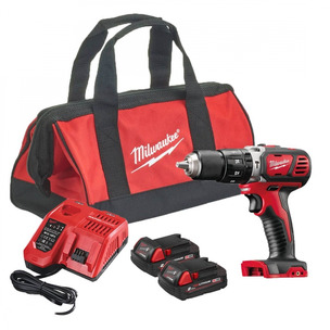 Milwaukee M18BPD-202B Compact Percussion Drill With 2 x 2.0Ah Batteries, Charger & Carry Bag