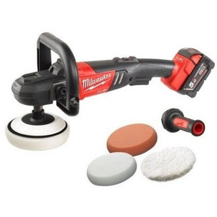 Milwaukee M18FAP180-502X 18V Fuel 180mm Polisher Kit (2 x 5.0ah RedLithium-Ion Batteries, Charger & Dyna Case)