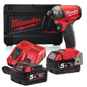 Milwaukee M18FQID-502X 18V Fuel Brushless Quiet Impact Driver (2 x 5Ah RedLithium-Ion Batteries)